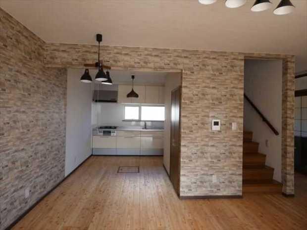 ブルックリン、レンガ調デザインのお家
